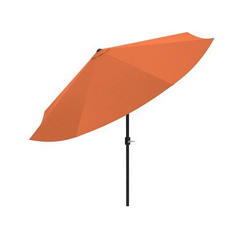 Pure Garden Orange Auto Tilt Patio Umbrella