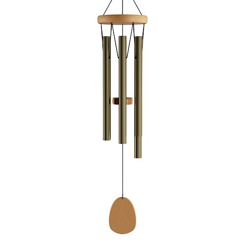 Pure Garden Metal and Wood Wind Chime