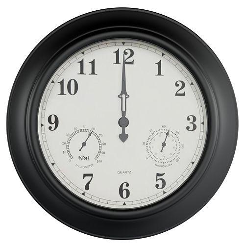 Pure Garden Temperature and Hygrometer Gauge Clock