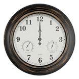 Pure Garden Bronze Distressed Clock