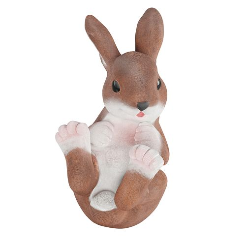 Pure Garden Bunny Rabbit Statue for Outdoor Lawn and Garden