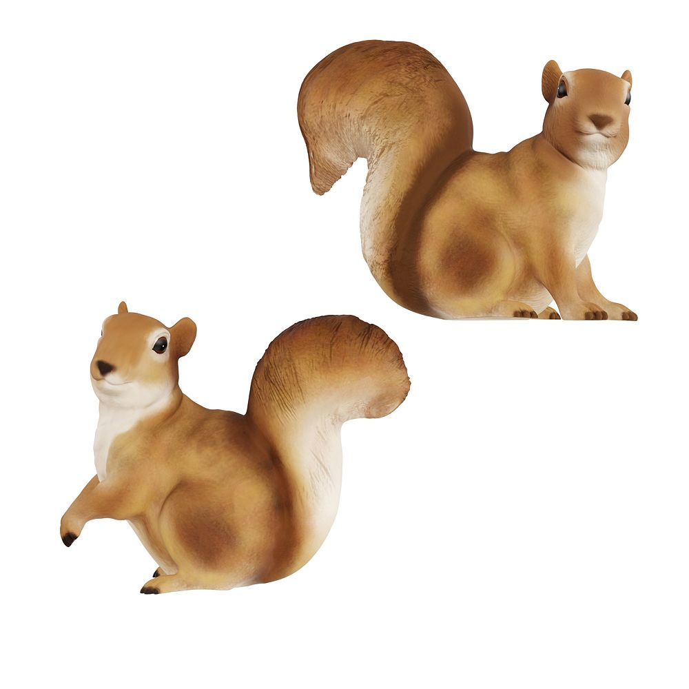 Pure Garden Squirrel Statues for Lawn and Garden (Set of 2)