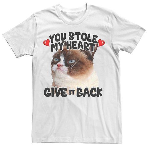 Men's Grumpy Cat Stole My Heart Tee