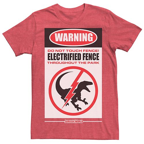 Men's Jurassic World Electric Fence Tee