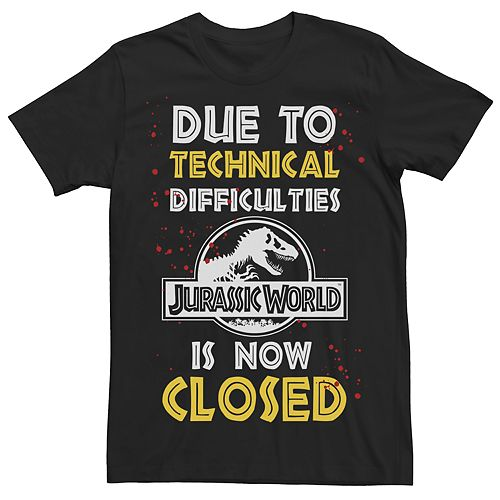 Men's Jurassic World Technical Difficulties Tee