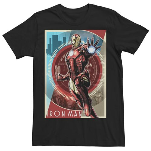 Men's Marvel Avengers Iron Man Poster Graphic Tee