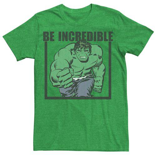 Men's Marvel Comics Retro Be Incredible The Incredible Hulk Graphic Tee