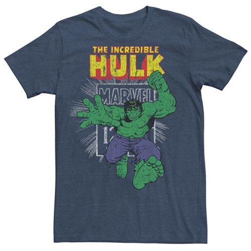 Men's Marvel Comics Retro The Incredible Hulk Stamp Graphic Tee