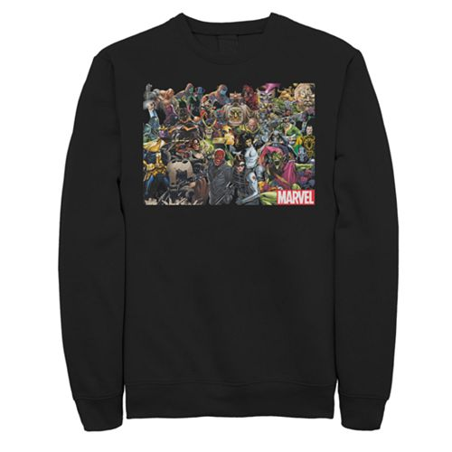 Men's Marvel Universe Villain Group Shot Graphic Pullover Sweater