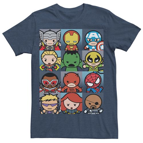 Men's Marvel Kawaii Art Collection Boxes Graphic Tee