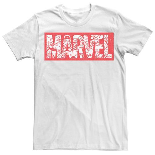 Men's Marvel Kawaii Art Collection Graphic Tee