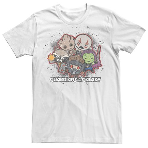 Men's Marvel Guardians of the Galaxy Kawaii Art Collection Graphic Tee