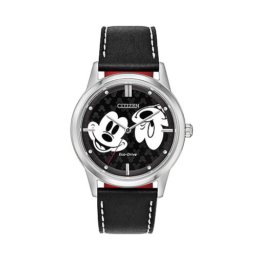 Disney's Mickey Mouse Black Leather Watch