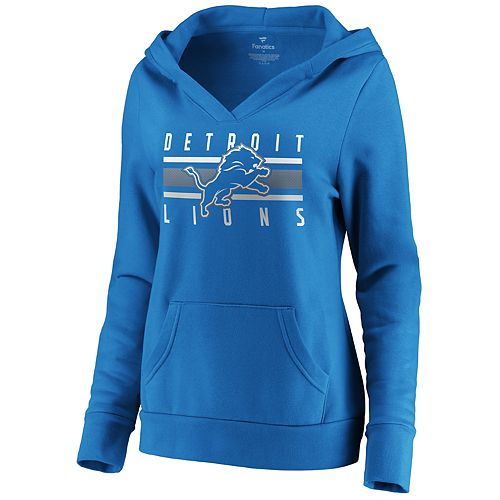 reputable site c6001 02aad Women's Detroit Lions Emblem Hoodie