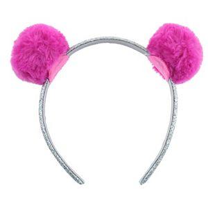 Elli by Capelli Glitter Pom-Pom Headband