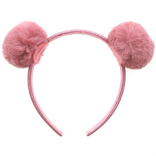 Elli by Capelli Glitter Pom-Pom Headband