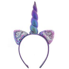 Elli by Capelli Flip Sequin Unicorn Headband