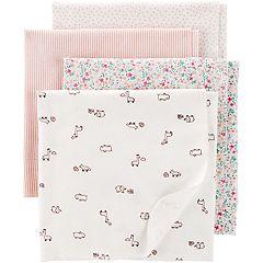Baby Girl Carter's 4-pack 30' x 40' Receiving Blankets