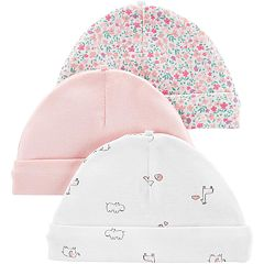 475f719d2e2a Baby Girl Carter's 3-pack Printed Hats