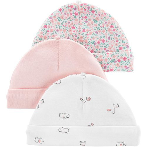 Baby Girl Carter's 3-pack Printed Hats