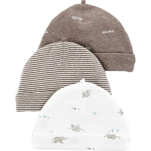 Baby Carter's 3-pack Printed Hats