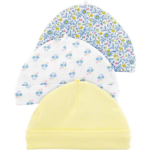 Baby Girl Carter's 3-pack Floral Hats