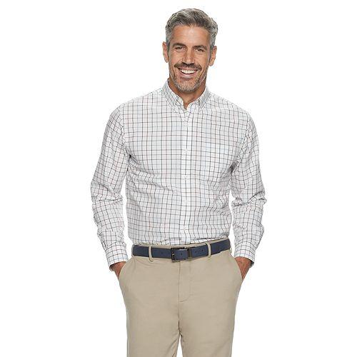 Men's Croft & Barrow® Plaid Easy-Care Button-Down Shirt