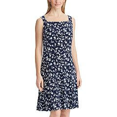 9c0cff4fcd3 Women s Chaps Floral Fit   Flare Tank Dress