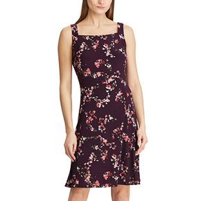 Women's Chaps Floral Fit & Flare Tank Dress