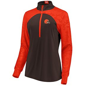 Women's Cleveland Browns Emblem Zip-Up