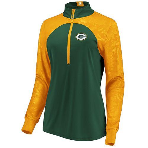 Women's Green Bay Packers Emblem Zip-Up