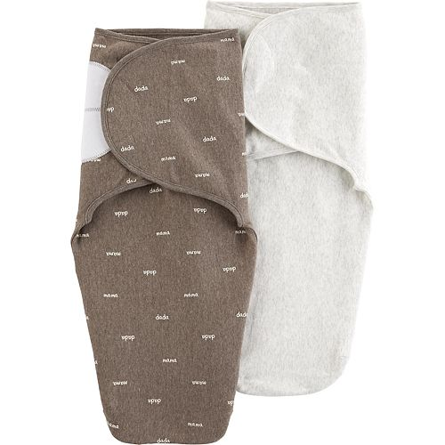 "Baby Boy Carter's 2-Pack ""Mama Dada"" Swaddles"