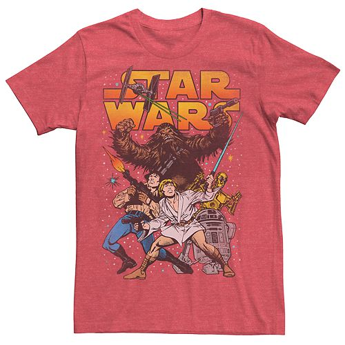Men's Vintage Star Wars Character Tee