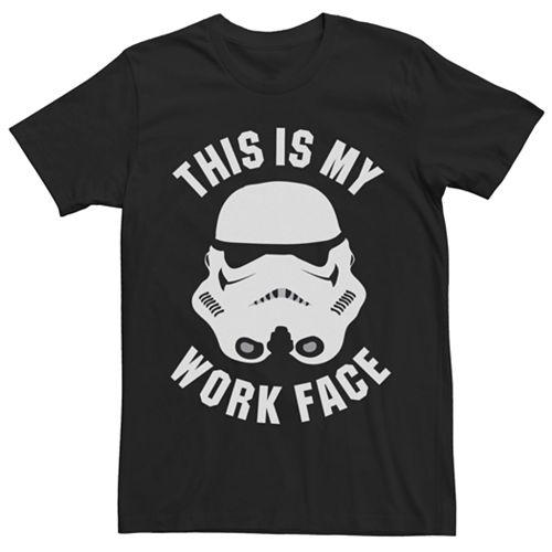Men's Star Wars Work Face Tee
