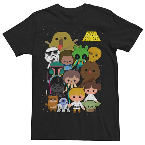 Men's Star Wars Cartoon Character Tee