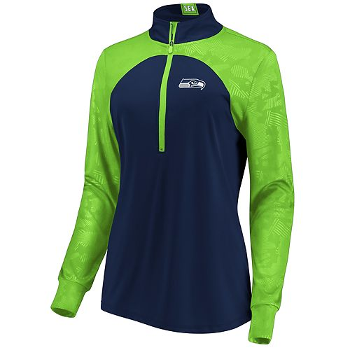 Women's Seattle Seahawks Emblem Zip-Up