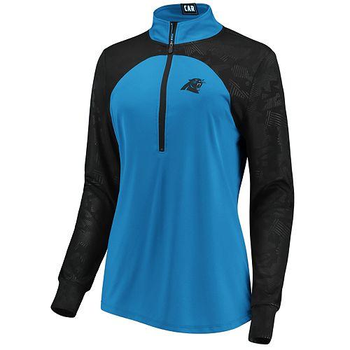 Women's Carolina Panthers Emblem Zip-Up