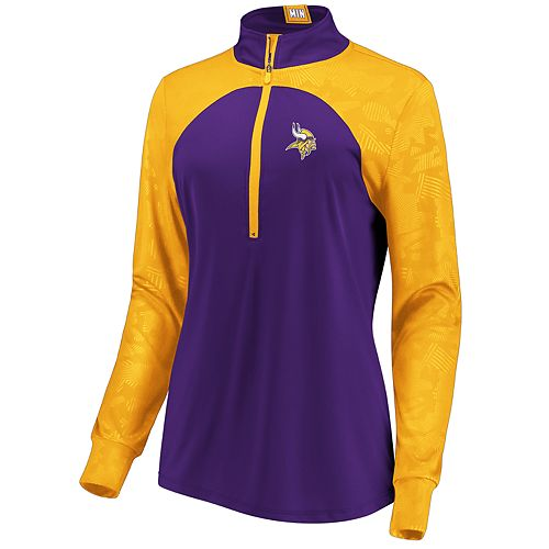 Women's Minnesota Vikings Emblem Zip-Up