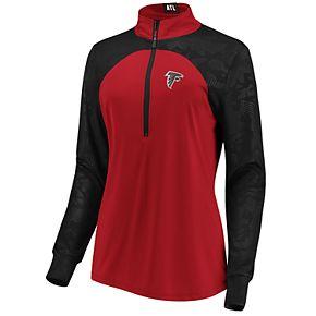Women's Atlanta Falcons Emblem Zip-Up