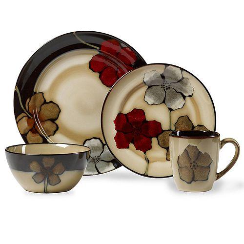 Pfaltzgraff Painted Poppies 16-pc. Dinnerware Set