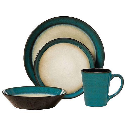 Pfaltzgraff Aria Teal 16-pc. Dinnerware Set