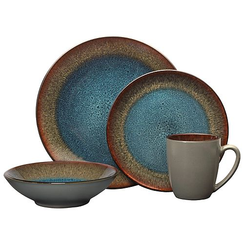 Pfaltzgraff Monroe Blue 16-pc. Dinnerware Set