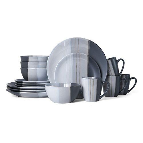 Pfaltzgraff Parker Gray 16-pc. Dinnerware Set