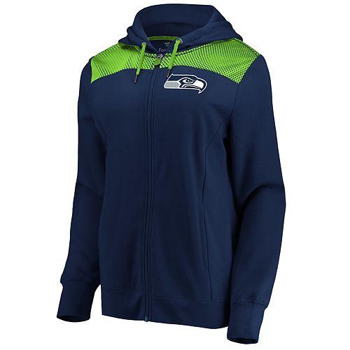 Women's Seattle Seahawks Athena Hooded Full-zip Jacket