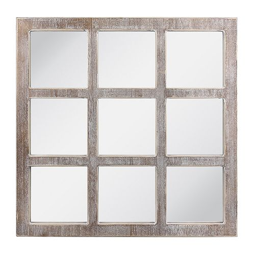 Stonebriar Collection Rustic Window Pane Hanging Wall Mirror