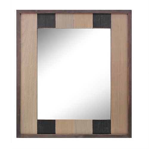Stonebriar Collection Wood Plank Hanging Wall Mirror