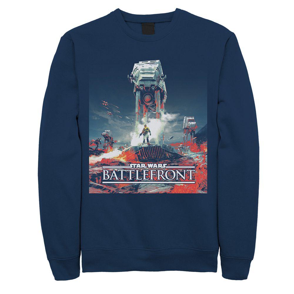 Men's Star Wars Battlefront Game Poster Sweatshirt