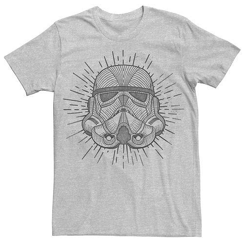 Men's Stars Star Wars Stormtrooper Line Art Tee