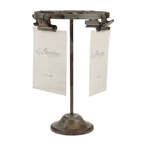 Stonebriar Collection Metal Clip Holder on Stand