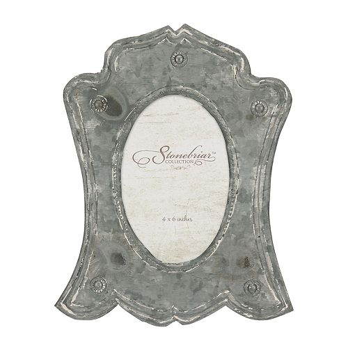 """Stonebriar Collection 4"""" x 6"""" Rustic Metal Photo Frame"""